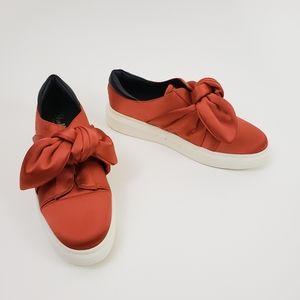 Shellys London Slip-on Sneaker Satin Platform Bow